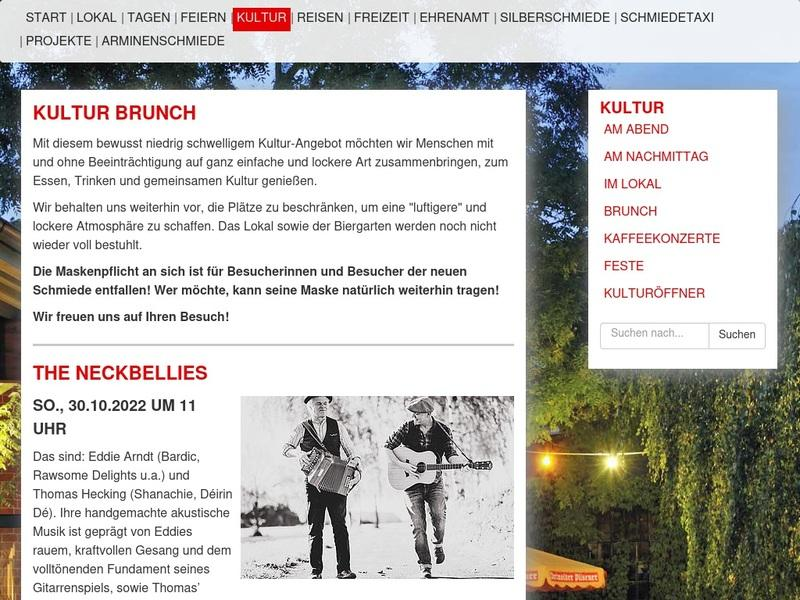 Screenshot von https://www.neue-schmiede.de/kultur/brunch/